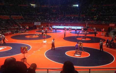 Wrestlers battle through IHSA State Series