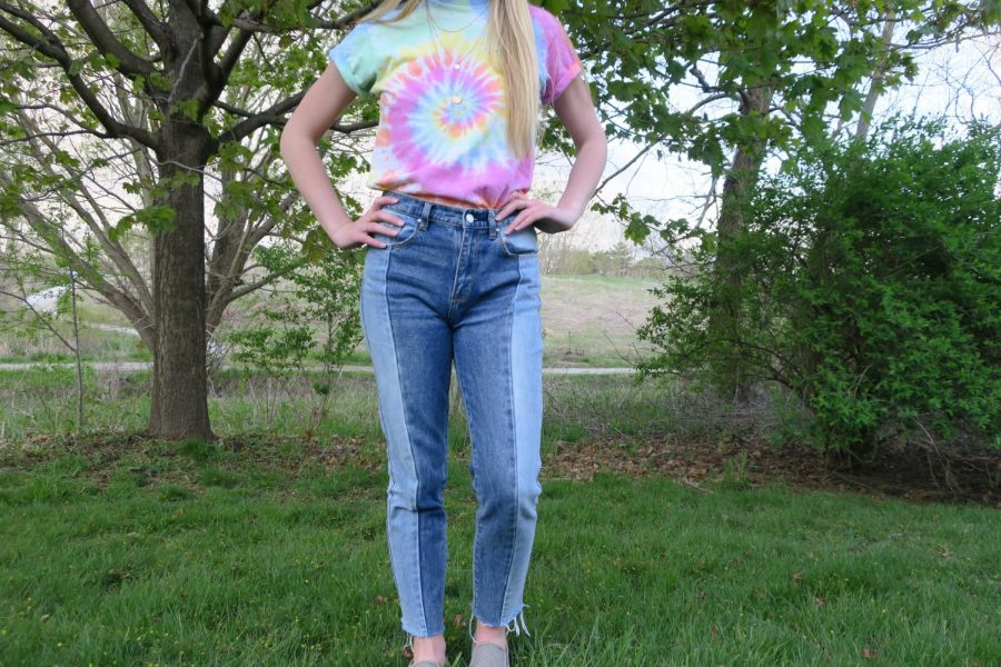 A tie dye shirt styled by Emily Breines. Photo by Hayley Breines
