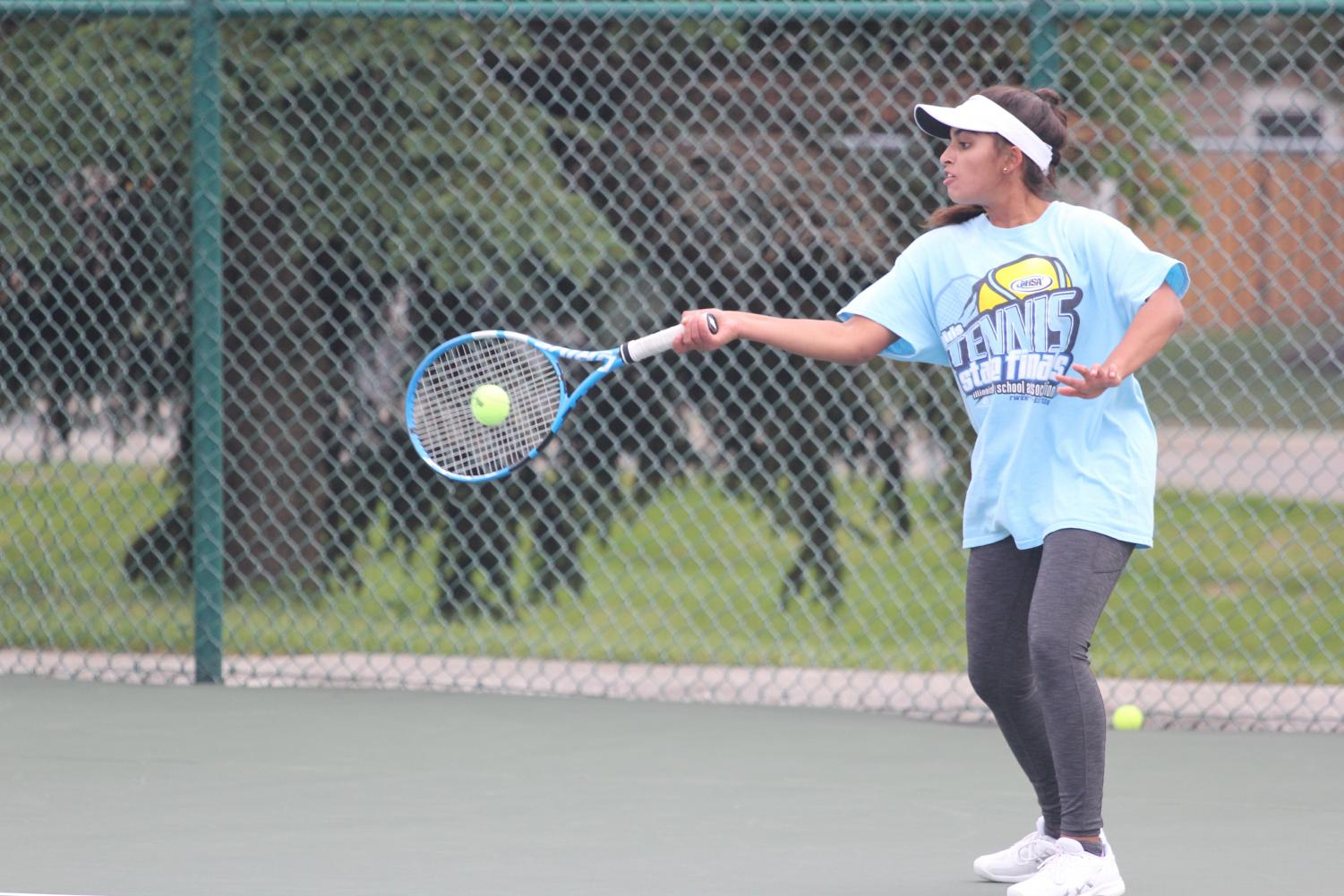 Karishma Bhalla working hard to prepare for the state tournment.