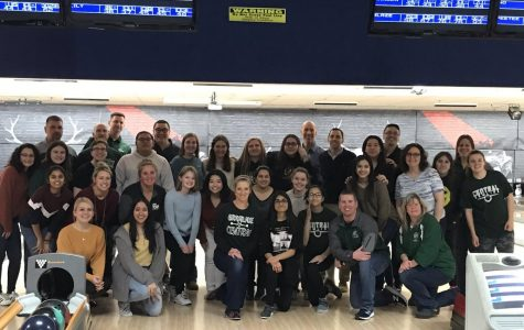 Girls bowling rolls to sectionals