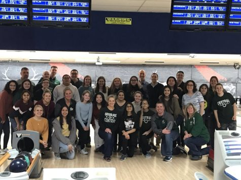 Girls bowling hosts annual teacher bowl night.