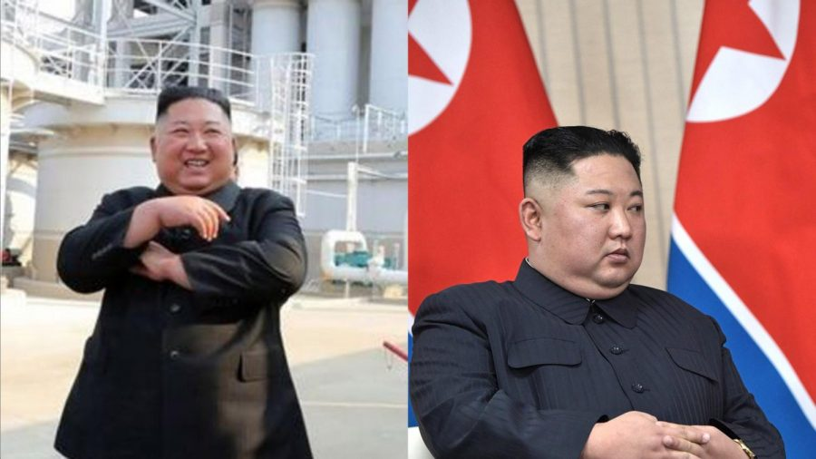 Kim+Jong+Un+in+the+Korean+State+Media+on+May+2nd+%28left%29%2C+versus+Un+in+2019+before+meeting+President+Donald+Trump+%28right%29.+A+clear+difference+is+visible+in+the+ears+of+the+two+men.+Un%E2%80%99s+earlobes+in+2019+were+attached%2C+and+in+2020+they+appear+to+have+detached%2C+a+genetic+impossibility.