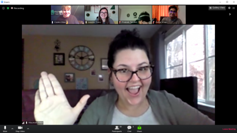 Encore! has a meeting on Zoom to discuss the virtual variety show. (Photo by Caden Moe)