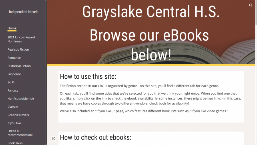 The LRC's Independent Novels page is a student-accessible resource to get into reading.