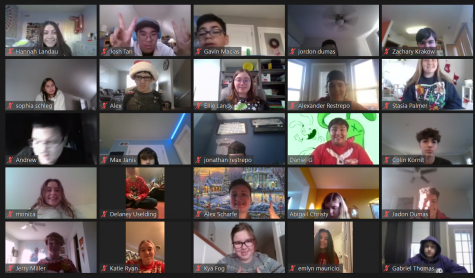 The members of the Best Buddies club celebrate their Holiday party on Zoom! Photo provided by Nella Sanders