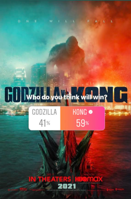 A recent Instagram poll from RamsMedia showed that 59% of Central students think that Kong will win in this fight, while a 41% think Godzilla will trounce Kong in this clash of kings. Disclaimer: All photos are protected under fair use since they are used for criticism purposes only. (section 107 of Copyright Act)