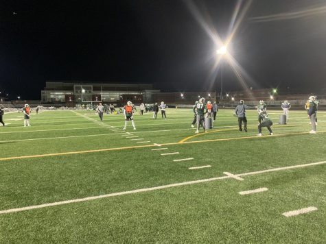 Spring football practice kicks off under the lights in preparation for a game against Antioch in week one.