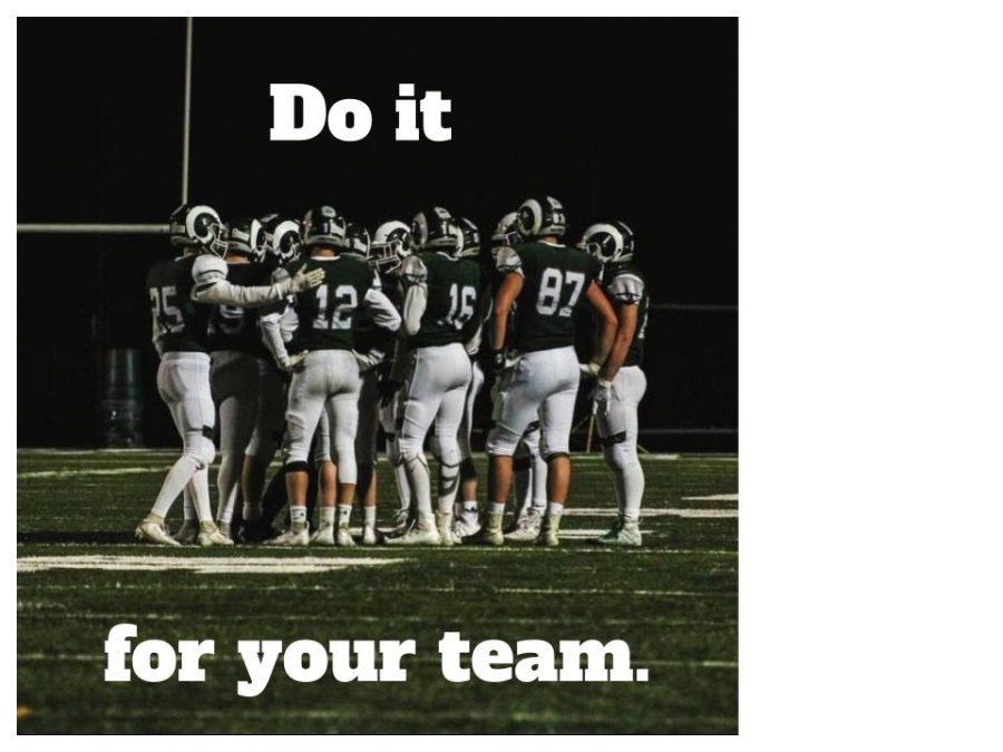 The Rams stick together through it all. Photo provided by Andrew Oelschlager.