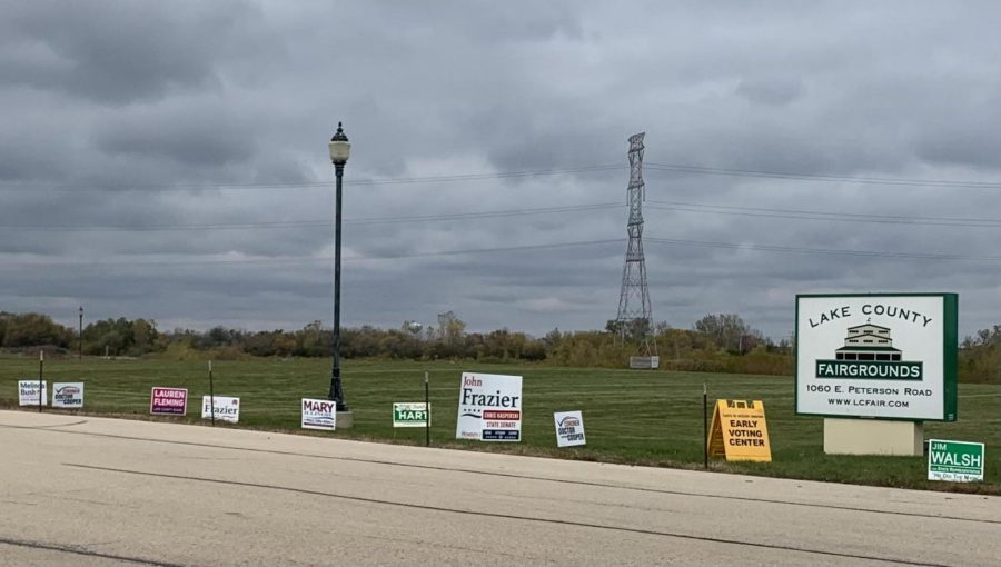 The+Lake+County+fairgrounds+in+Grayslake+are+open+for+early+voting.+Photo+by+Hayley+Breines
