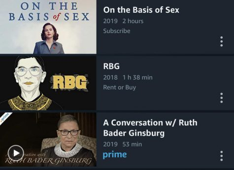 For more information of Ruth Bader Ginsburg, you can watch any of these three documentaries on Amazon Prime Video. (Photo provided by Kristen Orlowski).