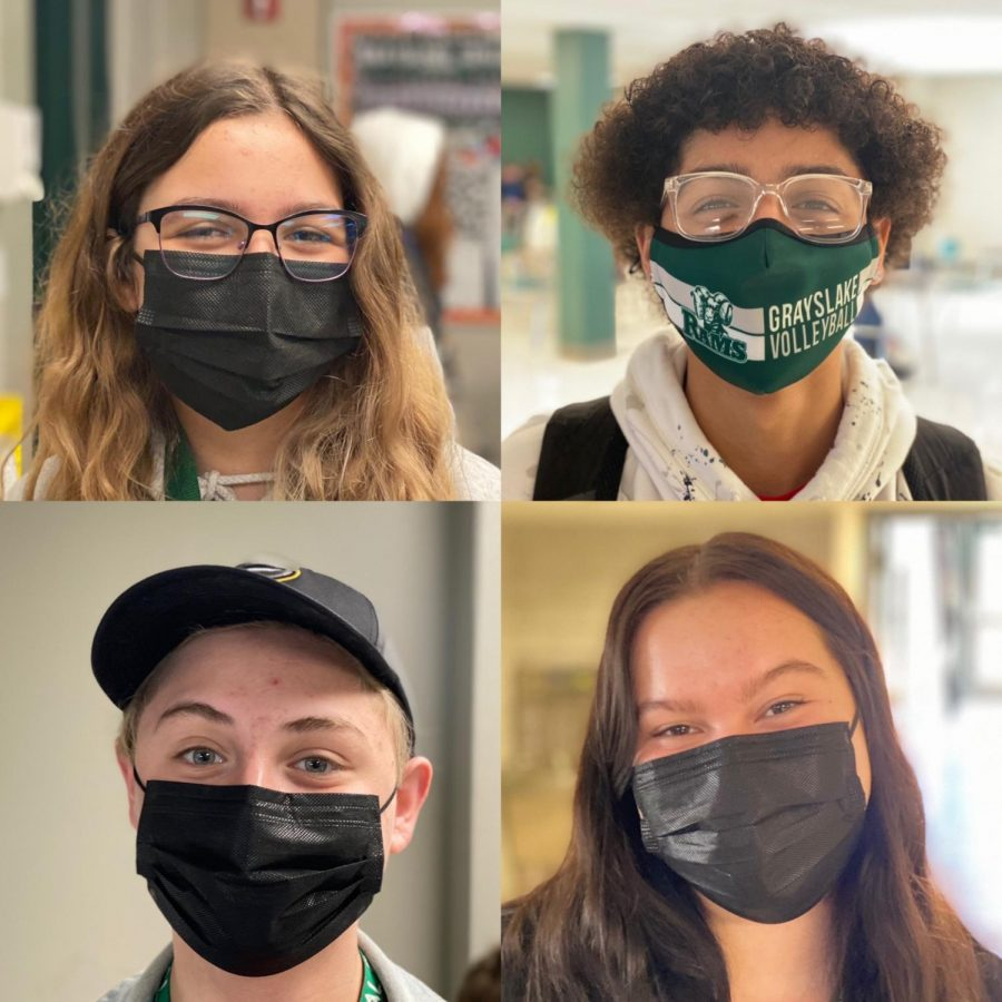Clockwise, sophomores Makayla Garrity, O'Marion O'Conner, Sophia King, and Christian Luvianos are four among the 350 or so GCHS sophomores who have stayed strong through the 2020-2021 school year. From a fully remote start to the year to the major change of hybrid learning, they've experienced it all.